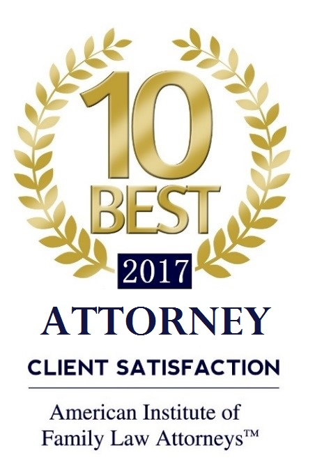 10 Best 2017 Attorney for CLient Satisfaction bythe American Institute of Family Law Lawyers